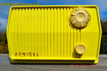Load image into Gallery viewer, SOLD! - Dec 7, 2015 - BLUETOOTH MP3 READY - HARVEST YELLOW Mid Century Retro Jetsons Vintage 1959 Emerson Model 4L26A Tube Radio Totally Restored! - [product_type} - Emerson - Retro Radio Farm