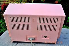 COTTON Candy Pink Mid Century Retro Jetsons Vintage 1959 General Electric Model T-132B Musaphonic Tube Radio Totally Restored! , Vintage Radio - General Electric, Retro Radio Farm  - 9