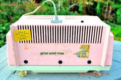 COTTON Candy Pink Mid Century Retro Jetsons Vintage 1959 General Electric Model T-132B Musaphonic Tube Radio Totally Restored! , Vintage Radio - General Electric, Retro Radio Farm  - 10