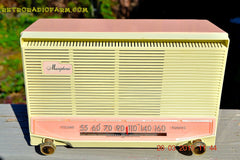COTTON Candy Pink Mid Century Retro Jetsons Vintage 1959 General Electric Model T-132B Musaphonic Tube Radio Totally Restored! , Vintage Radio - General Electric, Retro Radio Farm  - 2