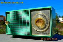 Load image into Gallery viewer, SOLD! - Apr 14, 2016 - BLUETOOTH MP3 READY SEA GREEN Mid Century Vintage 1959 General Electric Model T-129C Tube Radio - [product_type} - General Electric - Retro Radio Farm