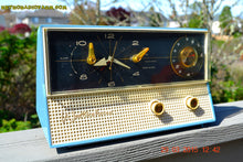Load image into Gallery viewer, SOLD! - Dec 9, 2015 - CORNFLOWER Blue Retro Jetsons 1959 Westinghouse Model H711T5 Tube AM Clock Radio Totally Restored! - [product_type} - Westinghouse - Retro Radio Farm