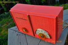 Load image into Gallery viewer, SOLD! - June 6, 2015 - BLUETOOTH MP3 READY - WACKY LOOKING Salmon Pink Retro Jetsons Vintage 1957 Philco G826-124 AM Tube Radio WORKS! , Vintage Radio - Philco, Retro Radio Farm  - 8