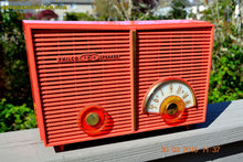 Load image into Gallery viewer, SOLD! - June 6, 2015 - BLUETOOTH MP3 READY - WACKY LOOKING Salmon Pink Retro Jetsons Vintage 1957 Philco G826-124 AM Tube Radio WORKS! , Vintage Radio - Philco, Retro Radio Farm  - 3