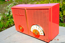 Load image into Gallery viewer, SOLD! - June 6, 2015 - BLUETOOTH MP3 READY - WACKY LOOKING Salmon Pink Retro Jetsons Vintage 1957 Philco G826-124 AM Tube Radio WORKS! , Vintage Radio - Philco, Retro Radio Farm  - 7