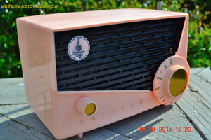SOLD! - July 19, 2016 - BLUETOOTH MP3 READY - AWESOME Pink And Black Retro Vintage 1957 Emerson 851 AM Tube Radio Totally Restored! - [product_type} - Emerson - Retro Radio Farm