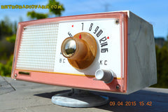 SOLD! - April 21, 2015 - NEW OLD STOCK PINK And White Marbelized Jetson Style Radio Lafayette Model FS-233 AM Tube Radio Unbelievable! , Vintage Radio - Lafayette, Retro Radio Farm  - 7