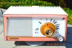 SOLD! - April 21, 2015 - NEW OLD STOCK PINK And White Marbelized Jetson Style Radio Lafayette Model FS-233 AM Tube Radio Unbelievable! , Vintage Radio - Lafayette, Retro Radio Farm  - 5