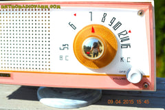 SOLD! - April 21, 2015 - NEW OLD STOCK PINK And White Marbelized Jetson Style Radio Lafayette Model FS-233 AM Tube Radio Unbelievable! , Vintage Radio - Lafayette, Retro Radio Farm  - 8