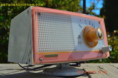 SOLD! - April 21, 2015 - NEW OLD STOCK PINK And White Marbelized Jetson Style Radio Lafayette Model FS-233 AM Tube Radio Unbelievable! , Vintage Radio - Lafayette, Retro Radio Farm  - 3