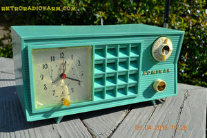 SOLD! - May 2, 2015 - PISTACHIO GREEN Retro Jetsons Mid Century Vintage 1955 Admiral Model 251 AM Tube Radio Totally Restored! , Vintage Radio - Admiral, Retro Radio Farm  - 3