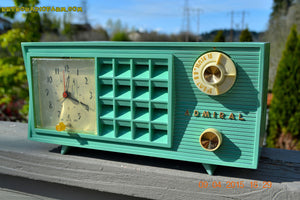 SOLD! - May 2, 2015 - PISTACHIO GREEN Retro Jetsons Mid Century Vintage 1955 Admiral Model 251 AM Tube Radio Totally Restored! , Vintage Radio - Admiral, Retro Radio Farm  - 2