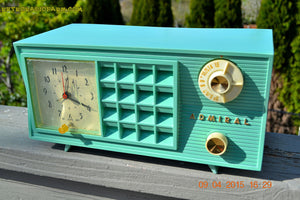 SOLD! - May 2, 2015 - PISTACHIO GREEN Retro Jetsons Mid Century Vintage 1955 Admiral Model 251 AM Tube Radio Totally Restored! , Vintage Radio - Admiral, Retro Radio Farm  - 4
