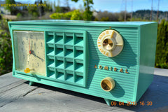 SOLD! - May 2, 2015 - PISTACHIO GREEN Retro Jetsons Mid Century Vintage 1955 Admiral Model 251 AM Tube Radio Totally Restored! , Vintage Radio - Admiral, Retro Radio Farm  - 9