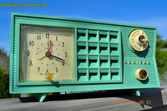 SOLD! - May 2, 2015 - PISTACHIO GREEN Retro Jetsons Mid Century Vintage 1955 Admiral Model 251 AM Tube Radio Totally Restored! , Vintage Radio - Admiral, Retro Radio Farm  - 7