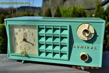 Load image into Gallery viewer, SOLD! - May 2, 2015 - PISTACHIO GREEN Retro Jetsons Mid Century Vintage 1955 Admiral Model 251 AM Tube Radio Totally Restored! , Vintage Radio - Admiral, Retro Radio Farm  - 6