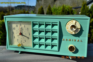 SOLD! - May 2, 2015 - PISTACHIO GREEN Retro Jetsons Mid Century Vintage 1955 Admiral Model 251 AM Tube Radio Totally Restored! , Vintage Radio - Admiral, Retro Radio Farm  - 6
