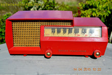 Load image into Gallery viewer, SOLD! - Apr 15, 2017 - MID CENTURY SPLIT LEVEL DREAM Red Retro Vintage 1953 Philco Model 53-563 AM Tube Radio Totally Restored! - [product_type} - Philco - Retro Radio Farm