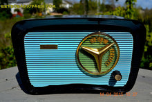 Load image into Gallery viewer, SOLD! - Feb 10, 2016 - BLUETOOTH MP3 READY - SO JETSONS LOOKING Retro Vintage AQUA and BLACK 1959 Travler T-204 AM Tube Radio WORKS! - [product_type} - Travler - Retro Radio Farm