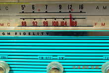 Load image into Gallery viewer, SOLD! - Jan 4, 2016 - GUMBY GREEN AM/FM Retro Vintage Mid Century Olympic Model AFM-16 Tube Radio Totally Restored! - [product_type} - Olympic - Retro Radio Farm