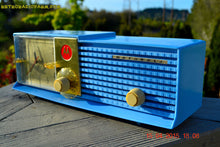 Load image into Gallery viewer, SOLD! - May 28, 2015 - CORNFLOWER BLUE Bi-level Retro Jetsons 1957 Motorola 57CD Tube AM Clock Radio WORKS! - [product_type} - Motorola - Retro Radio Farm