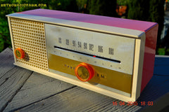 SOLD! - May 15, 2015 - CARNATION PINK Retro Jetsons early 60s Arvin Model 30R12 Tube FM RADIO Works! , Vintage Radio - Arvin, Retro Radio Farm  - 2