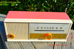 SOLD! - May 15, 2015 - CARNATION PINK Retro Jetsons early 60s Arvin Model 30R12 Tube FM RADIO Works! , Vintage Radio - Arvin, Retro Radio Farm  - 3