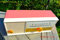 SOLD! - May 15, 2015 - CARNATION PINK Retro Jetsons early 60s Arvin Model 30R12 Tube FM RADIO Works! , Vintage Radio - Arvin, Retro Radio Farm  - 5