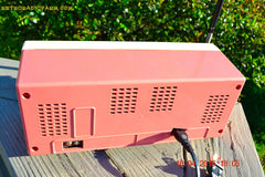 SOLD! - May 15, 2015 - CARNATION PINK Retro Jetsons early 60s Arvin Model 30R12 Tube FM RADIO Works! , Vintage Radio - Arvin, Retro Radio Farm  - 8