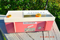 SOLD! - May 15, 2015 - CARNATION PINK Retro Jetsons early 60s Arvin Model 30R12 Tube FM RADIO Works! , Vintage Radio - Arvin, Retro Radio Farm  - 9