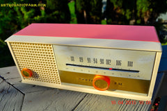 SOLD! - May 15, 2015 - CARNATION PINK Retro Jetsons early 60s Arvin Model 30R12 Tube FM RADIO Works! , Vintage Radio - Arvin, Retro Radio Farm  - 6
