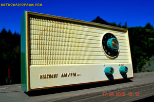 SOLD! - April 20, 2015 - TURQUOISE AM/FM Retro Vintage Mid Century Viscount Solid State Portable Radio Totally Restored! - [product_type} - Viscount - Retro Radio Farm