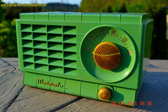 SOLD! - Mar 3, 2016 - LIME GREEN 1948 Retro Vintage Art Deco Motorola Model 58R15 Bakelite AM Tube AM Radio Totally Restored! , Vintage Radio - Motorola, Retro Radio Farm  - 3
