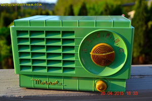 SOLD! - Mar 3, 2016 - LIME GREEN 1948 Retro Vintage Art Deco Motorola Model 58R15 Bakelite AM Tube AM Radio Totally Restored! , Vintage Radio - Motorola, Retro Radio Farm  - 2