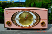 Load image into Gallery viewer, SOLD! - Sept 9, 2015 - PINK CYCLOPIC Vintage Mid Century Retro Jetsons 1957 Bulova Model 140 Tube AM Clock Radio WORKS! , Vintage Radio - Bulova, Retro Radio Farm  - 3