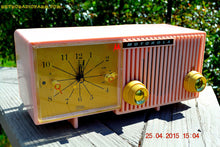 Load image into Gallery viewer, SOLD! - Nov 4, 2015 - BLUETOOTH MP3 READY - PRETTY IN PINK Retro Jetsons 1956 Motorola 57CF Tube AM Clock Radio Totally Restored! - [product_type} - Motorola - Retro Radio Farm