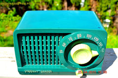 SOLD! - July 28, 2015 - BEAUTIFUL Art Deco Rare Retro Green 1952 Stewart Warner 9160H Tube AM Radio Totally Restored! , Vintage Radio - Stewart Warner, Retro Radio Farm  - 6