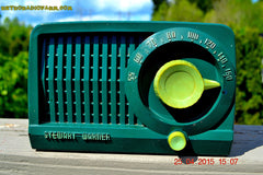 SOLD! - July 28, 2015 - BEAUTIFUL Art Deco Rare Retro Green 1952 Stewart Warner 9160H Tube AM Radio Totally Restored! , Vintage Radio - Stewart Warner, Retro Radio Farm  - 5