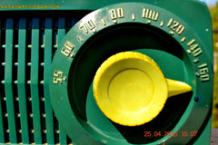 SOLD! - July 28, 2015 - BEAUTIFUL Art Deco Rare Retro Green 1952 Stewart Warner 9160H Tube AM Radio Totally Restored! , Vintage Radio - Stewart Warner, Retro Radio Farm  - 7