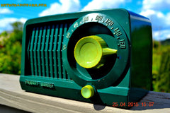 SOLD! - July 28, 2015 - BEAUTIFUL Art Deco Rare Retro Green 1952 Stewart Warner 9160H Tube AM Radio Totally Restored! , Vintage Radio - Stewart Warner, Retro Radio Farm  - 1