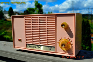 SOLD! - June 21, 2015 - BLUETOOTH MP3 READY - PASTEL PINK Mid Century Vintage 1959 Packard Bell Model 5R9 Tube Radio Totally Restored! - [product_type} - Packard-Bell - Retro Radio Farm
