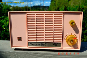 SOLD! - June 21, 2015 - BLUETOOTH MP3 READY - PASTEL PINK Mid Century Vintage 1959 Packard Bell Model 5R9 Tube Radio Totally Restored! , Vintage Radio - Packard-Bell, Retro Radio Farm  - 3