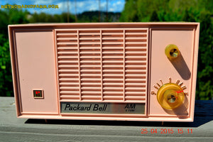 SOLD! - June 21, 2015 - BLUETOOTH MP3 READY - PASTEL PINK Mid Century Vintage 1959 Packard Bell Model 5R9 Tube Radio Totally Restored! , Vintage Radio - Packard-Bell, Retro Radio Farm  - 6