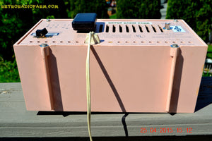 SOLD! - June 21, 2015 - BLUETOOTH MP3 READY - PASTEL PINK Mid Century Vintage 1959 Packard Bell Model 5R9 Tube Radio Totally Restored! , Vintage Radio - Packard-Bell, Retro Radio Farm  - 9