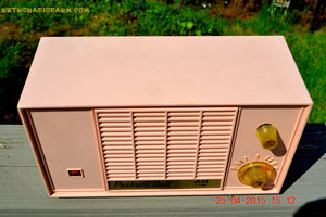 SOLD! - June 21, 2015 - BLUETOOTH MP3 READY - PASTEL PINK Mid Century Vintage 1959 Packard Bell Model 5R9 Tube Radio Totally Restored! , Vintage Radio - Packard-Bell, Retro Radio Farm  - 8