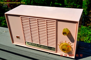 SOLD! - June 21, 2015 - BLUETOOTH MP3 READY - PASTEL PINK Mid Century Vintage 1959 Packard Bell Model 5R9 Tube Radio Totally Restored! , Vintage Radio - Packard-Bell, Retro Radio Farm  - 5