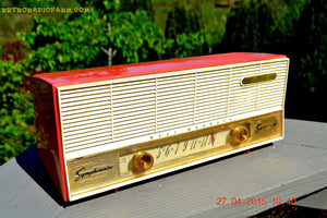 SOLD! - Dec 21, 2015 - SOCKEYE SALMON Pink Retro Jetsons Vintage 1957 Westinghouse H-637T6A AM Tube Radio Works! - [product_type} - Westinghouse - Retro Radio Farm