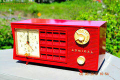 SOLD! - May 12, 2015 - FIRE ENGINE RED Retro Jetsons Mid Century Vintage 1955 Admiral Model 251 AM Tube Radio Totally Restored! , Vintage Radio - Admiral, Retro Radio Farm  - 5