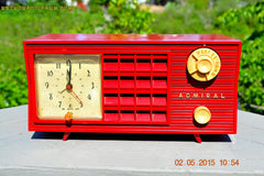 SOLD! - May 12, 2015 - FIRE ENGINE RED Retro Jetsons Mid Century Vintage 1955 Admiral Model 251 AM Tube Radio Totally Restored! , Vintage Radio - Admiral, Retro Radio Farm  - 3