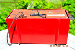 SOLD! - May 12, 2015 - FIRE ENGINE RED Retro Jetsons Mid Century Vintage 1955 Admiral Model 251 AM Tube Radio Totally Restored! , Vintage Radio - Admiral, Retro Radio Farm  - 9